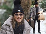 EXCLUSIVE: Elizabeth Hurley seen leaving her London home this afternoon. Liz was seen wearing a beanie hat and carrying her delivery from Sothebeys.  Pictured: Liz Hurley Ref: SPL1217035  290116   EXCLUSIVE Picture by: Warner/Eade Splash News  Splash News and Pictures Los Angeles: 310-821-2666 New York: 212-619-2666 London: 870-934-2666 photodesk@splashnews.com