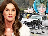 February 07, 2015.. .. General views of the accident scene in which Bruce Jenner ran into the back of a white car on Pacific Coast Highway in Malibu, California. CHP officers state that Bruce ran into the woman in front of him, which made her spin out into oncoming traffic. She was then hit by another driver in a Hummer and killed... .. Non-Exclusive.. UK RIGHTS ONLY.. .. Pictures by : FameFlynet UK © 2015.. Tel : +44 (0)20 3551 5049.. Email : info@fameflynet.uk.com