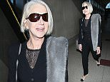"""Los Angeles, CA - Helen Mirren lands at LAX. The 70-year-old actress is one of the presenters at the years SAG Awards which will be held on January 30th. The five-time ActorÆ recipient, this year added three of her 13 SAG Award nominations: female lead in """"Woman in Gold"""" and two for """"Trumbo,"""" one for her performance as Hedda Hopper and one as a cast member.\nAKM-GSI         January 28, 2016\nTo License These Photos, Please Contact :\nSteve Ginsburg\n(310) 505-8447\n(323) 423-9397\nsteve@akmgsi.com\nsales@akmgsi.com\nor\nMaria Buda\n(917) 242-1505\nmbuda@akmgsi.com\nginsburgspalyinc@gmail.com"""