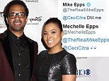 Celebrity arrivals at the 6th Annual African American Film Critics Association Awards held at the Taglyan Cultural Complex in Hollywood, California.....Pictured: Mechelle Epps and Mike Epps..Ref: SPL942858  040215  ..Picture by: @Parisa/Splash News....Splash News and Pictures..Los Angeles: 310-821-2666..New York: 212-619-2666..London: 870-934-2666..photodesk@splashnews.com..