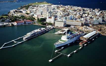 The port in St Juan in Puerto Rico