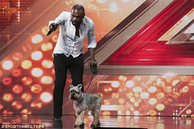 Showing his support: Anton,  45, who brought his dog Honey with him to his audition, sang Jennifer Hudson's track I Am Changing