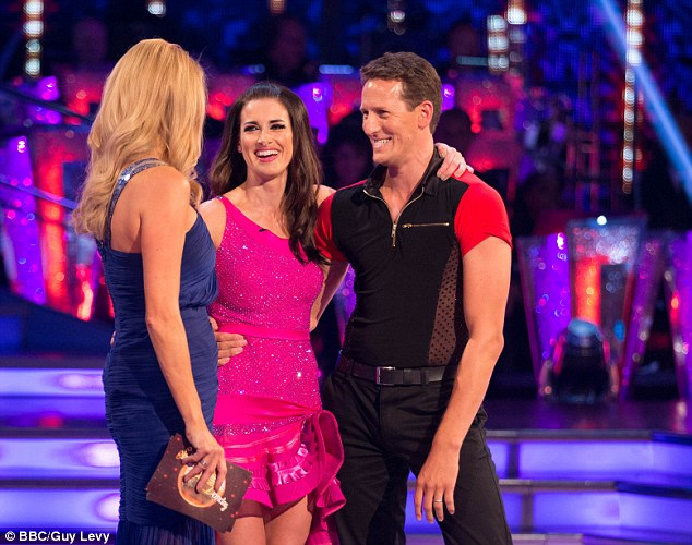 Beaming: Kirsty was paired with professional dancer Brendan Cole last night on the hit BBC series