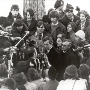 Maine Senator Edmund Muskie campaigns in Derry during the 1972 primary. (Photo courtesy of the New Hampshire Institute of Politics & Political Library at Saint Anselm College)