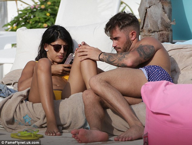 Sun-kissed: Jasmin and Ross showed off their impressive bodies in the Mediterranean sun