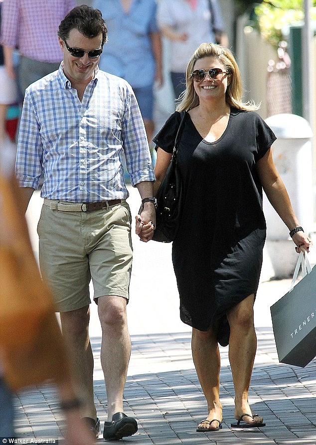 New mum: Emily Symons has revealed how much she relied on the support of her partner Paul Jackson, 45