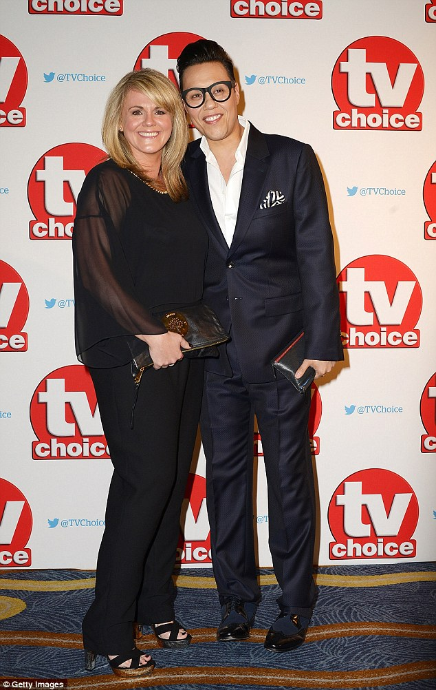 Unlikely twosome:Sally Lindsay and Gok Wan walked the red carpet as a pair