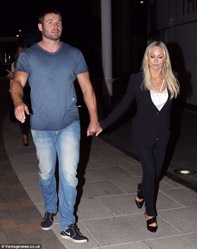 Strictly sweet: Ben Cohen and Kristina Rihanoff stepped out hand-in-hand at the weekend as they went to a hotel in London