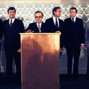 Republican Presidential Candidates (Photo courtesy of the New Hampshire Institute of Politics & Political Library at Saint Anselm College)