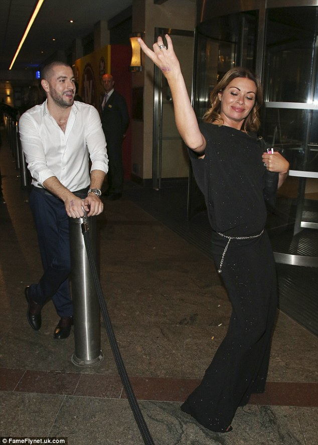 Dancing shoes on: Corrie's Alison King didn't seem to want to go home and continued to dance