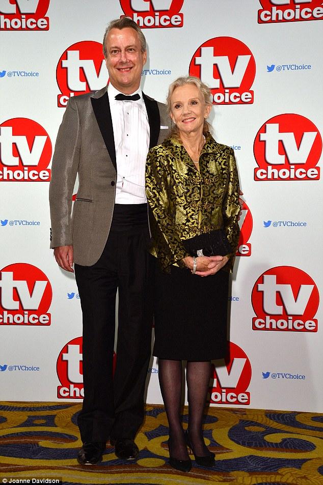 Hollywood starlet: Stephen Tompkinson accompanied Hayley Mills at the TV Choice Award on Monday night