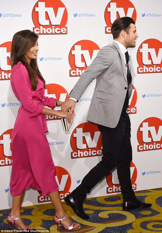 Following on: Mark led the way for his new wife on the red carpet
