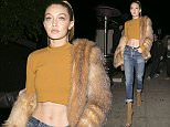 Gigi Hadid leaves The Nice Guy club in West Hollywood  Pictured: Gigi Hadid Ref: SPL1218013  290116   Picture by: Holly Heads LLC / Splash News  Splash News and Pictures Los Angeles: 310-821-2666 New York: 212-619-2666 London: 870-934-2666 photodesk@splashnews.com