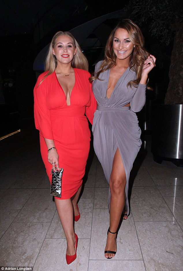 Girls' night out! The expectant 24-year-old star looked as though she didn't have a care in the world as she hit the town with a female friend