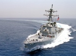 USS Curtis Wilbur -- a guided missile destroyer -- sailed near Triton Island in the Paracel Islands ©John Sullivan (US Navy/AFP)