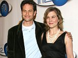 """Kirk Cameron and Tracey Gold during """"In2TV"""" AOL and Warner Bros. broadband network launch party at The Museum of Television & Radio in Beverly Hills, California, United States. (Photo by Mirek Towski/FilmMagic)"""
