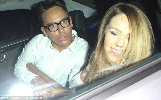 Taxi for Piper: The Bodyshockers presenter appeared to be a little sleepy as she called it a night after attending the showbiz bash