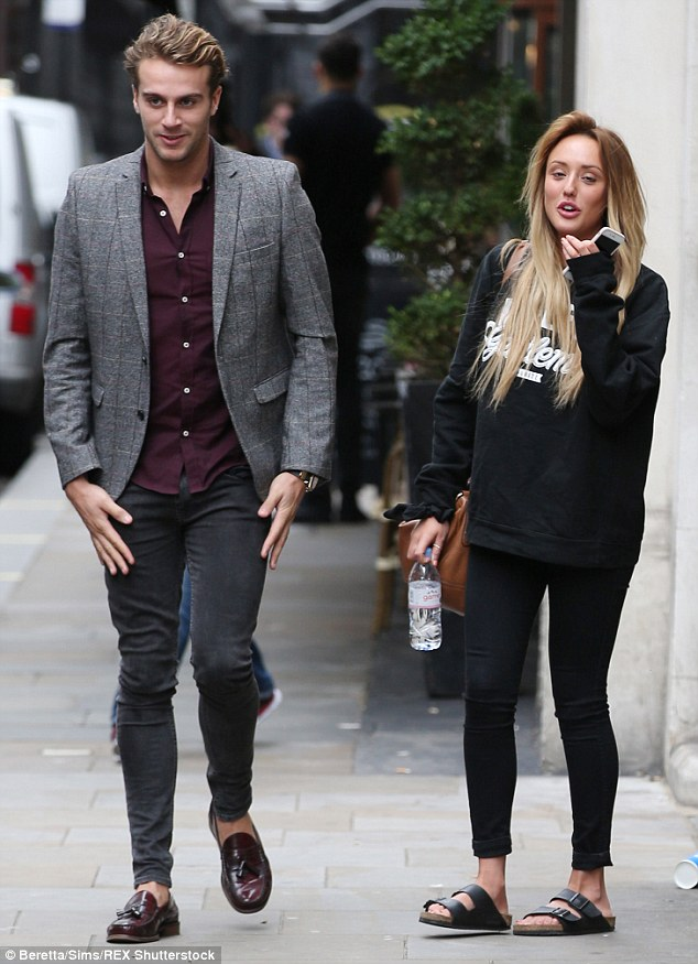 The morning after the night before: Charlotte Crosby and Max Morley looked a little sheepish following their passionate display. She has finally broken her silence and revealed, 'he came back to the hotel but we just cuddled'