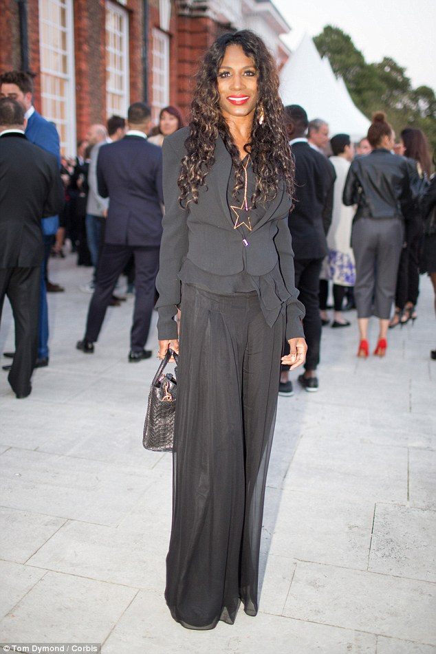 Look who's there! Sinitta cut a typically quirky yet modish figure in a ruffled, layered black ensemble