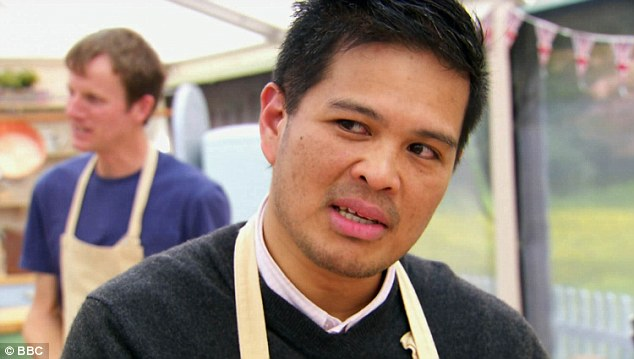 Heading home: Alvin was the latest casualty of the Great British Bake Off kitchen on Wednesday night