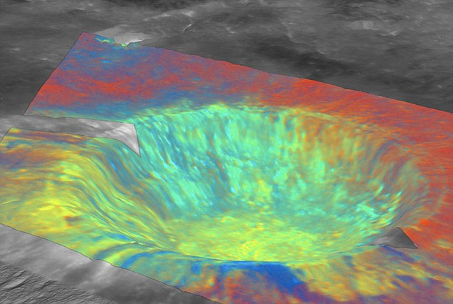 This Hubble colour composite focuses on the Aristarchus impact crater, and uses colour information across the ultraviolet and infrared to accentuate differences between minerals