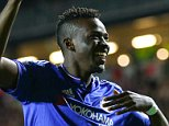 31 January 2016 - The Emirates FA Cup 4th Round - MK Dons v Chelsea - Bertrand Traore of Chelsea celebrates scoring the 5th goal - Photo: Marc Atkins / Offside.