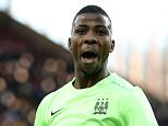 """Manchester City's Kelechi Iheanacho celebrates scoring his side's second goal of the game from the penalty spot during the Emirates FA Cup, fourth round match at Villa Park, Birmingham. PRESS ASSOCIATION Photo. Picture date: Saturday January 30, 2016. See PA story SOCCER Villa. Photo credit should read: Martin Rickett/PA Wire. RESTRICTIONS: EDITORIAL USE ONLY No use with unauthorised audio, video, data, fixture lists, club/league logos or """"live"""" services. Online in-match use limited to 75 images, no video emulation. No use in betting, games or single club/league/player publications."""