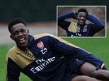 ST ALBANS, ENGLAND - JANUARY 29:  Danny Welbeck of Arsenal during a training session at London Colney on January 29, 2016 in St Albans, England.  (Photo by Stuart MacFarlane/Arsenal FC via Getty Images)