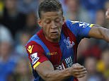 Crystal Palace's English striker Dwight Gayle (L) vies with Watford's Austrian defender Sebastian Prodl during the English Premier League football match between Watford and Crystal Palace at Vicarage Road Stadium in Watford, north of London on September 27, 2015. Crystal Palace won the game 1-0. AFP PHOTO / IAN KINGTON\n\nRESTRICTED TO EDITORIAL USE. No use with unauthorized audio, video, data, fixture lists, club/league logos or 'live' services. Online in-match use limited to 75 images, no video emulation. No use in betting, games or single club/league/player publications.        (Photo credit should read IAN KINGTON/AFP/Getty Images)