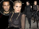 Khloe Kardashian with braided hair and wearing a sheer top was seen arriving at 'The Nice Guy' bar in West hollywood, CA  Pictured: Khloe Kardashian Ref: SPL1217450  290116   Picture by: SPW / Splash News  Splash News and Pictures Los Angeles: 310-821-2666 New York: 212-619-2666 London: 870-934-2666 photodesk@splashnews.com