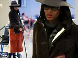 """eURN: AD*194711249  Headline: Exclusive Naomi Campbell Spotted Walking with the Help of a Cane Caption: 01/28/2016 Exclusive Supermodel Naomi Campbell Spotted Walking with the Help of a Cane. Naomi appeared to have a bit of trouble making her way though JFK terminal this afternoon.  Over one month ago to the day Naomi sparked concern as she was pictured in a wheelchair after landing in Brazil. At that time the Supermodels team stated that she simply suffered a """"light"""" foot injury. A month later the model was still having problems moving around.  sales@theimagedirect.com Please byline:TheImageDirect.com *EXCLUSIVE PLEASE EMAIL sales@theimagedirect.com FOR FEES BEFORE USE Photographer: TheImageDirect.com  Loaded on 29/01/2016 at 10:01 Copyright:  Provider: TheImageDirect.com  Properties: RGB JPEG Image (12724K 1099K 11.6:1) 1680w x 2585h at 300 x 300 dpi  Routing: DM News : GeneralFeed (Miscellaneous) DM Showbiz : SHOWBIZ (Miscellaneous) DM Online : Online Previews (Miscellaneo"""