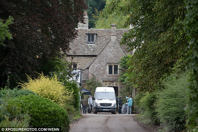Scenic: Filming also took place at Horton Court, near Yate this week