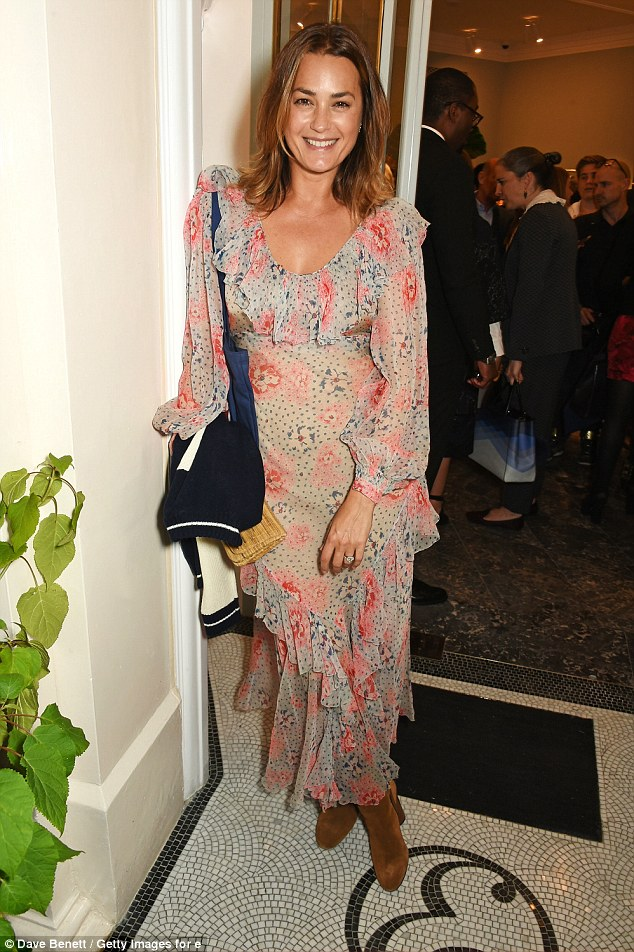 Following the floral trend: Yasmin Le Bon chose a flowing flower print dress for Erdem's big night