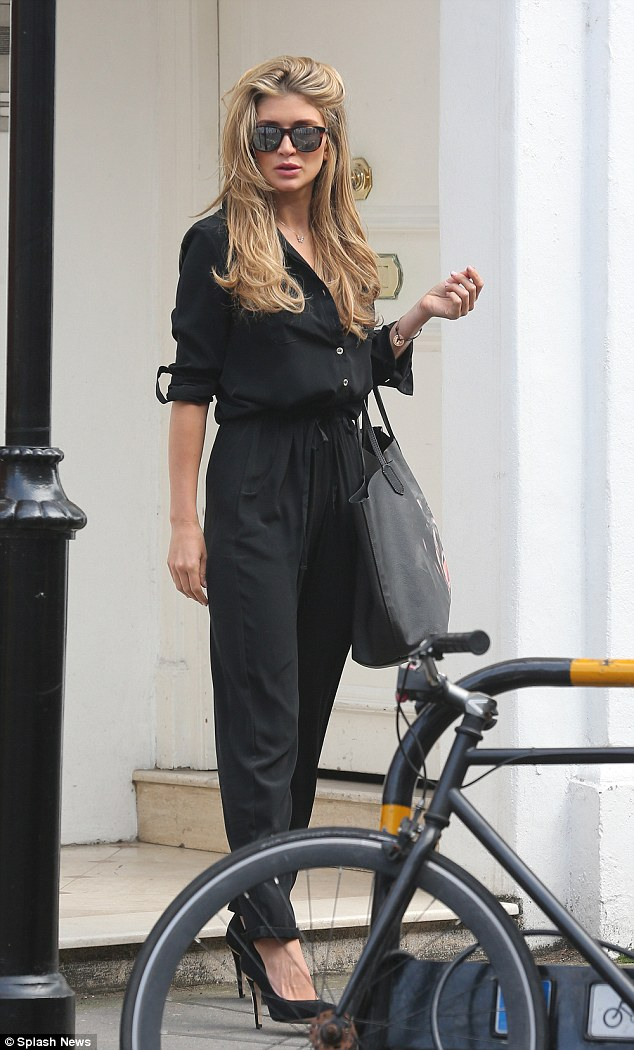 Still together? Lauren Hutton gave speculators further reason to believe that she and former Made In Chelsea star Spencer Matthews are still an item as she was seen leaving his London home on Wednesday