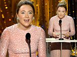 LOS ANGELES, CA - JANUARY 30:  Actress Saoirse Ronan speaks onstage during the 22nd Annual Screen Actors Guild Awards at The Shrine Auditorium on January 30, 2016 in Los Angeles, California.  (Photo by Kevork Djansezian/Getty Images)