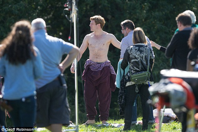 Cheeky! The 30-year-old stripped down to his pants as he filmed a scene for the second series of ITV's drama