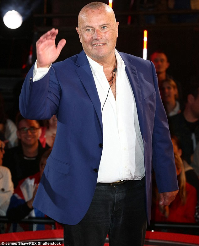 Concerned: Following his eviction from Celebrity Big Brother on Tuesday evening, Chris Ellison, 68, voiced his worries about Gail Porter's ability to cope with life in the house, admitting he believes 'she's suffering'