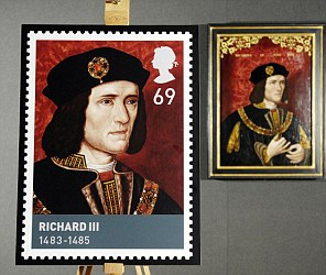 The new 69p stamp featuring Richard III,
