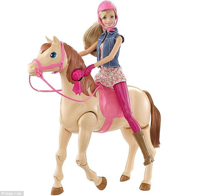 The Barbie Saddle 'N Ride Horse is among the 15 highest rated toys for this holiday season, according to experts at Toys R Us. The doll, which comes in pink and purple, is currently retailing at $44.99