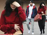 Exclusive... 51959525 Shy reality star Kylie Jenner is seen leaving Jerry's Deli on Woodland Hills, California with her on again, off again boyfriend Tyga on Janyary 30, 2016. Drama has been building in the Kardashian-Jenner family as of late, after Kylie's half-brother, Rob Kardashian, struck up a romance with Blac Chyna, who is Tyga's ex-girlfriend! FameFlynet, Inc - Beverly Hills, CA, USA - +1 (310) 505-9876