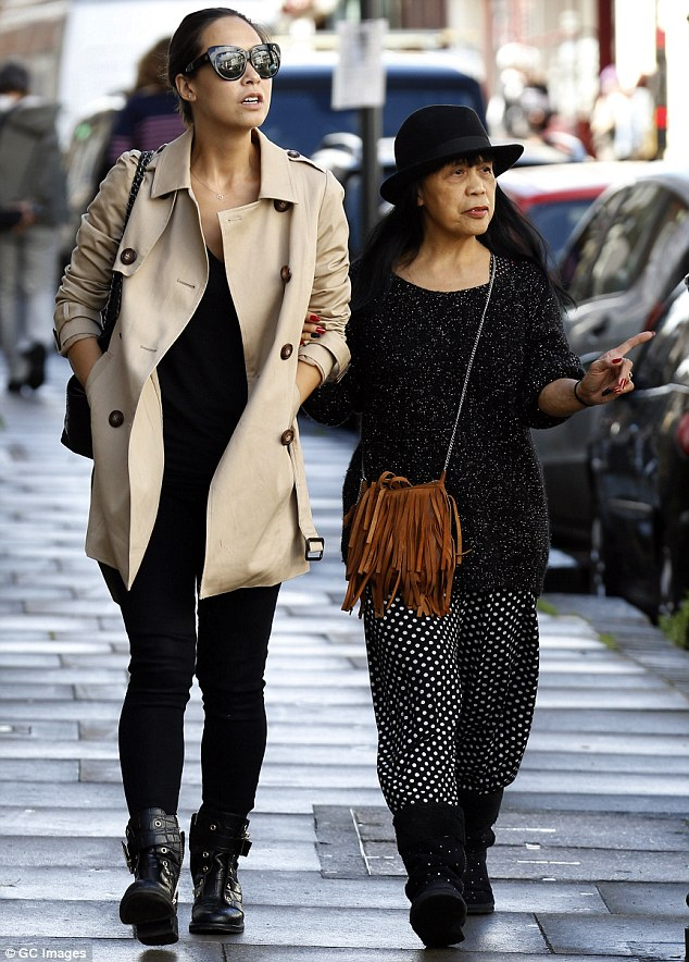 Stylish family: Myleene Klass and her mother Magdelena both put on a fashionable display as they enjoyed a day out together in London on Monday