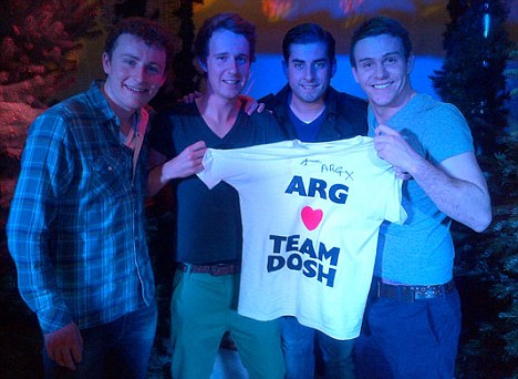 What lies ahead: Arg with university students after his public appearance and before the crash