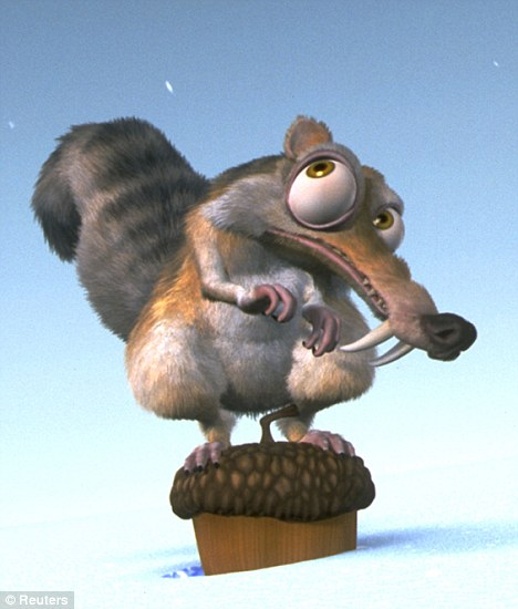 Bizarre: The newly discovered species bears more than a passing resemblance to Scrat, the sabre-toothed squirrel from the Ice Age movies