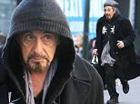 """31.JANUARY.2016 - NEW YORK CITY - USA\n**EXCLUSIVE ALL ROUND PICTURES**\nAl Pacino runs for joy at full speed in the middle of the street with incoming traffic for an entire block in times square as he makes his way to the last performance of his broadway play """"CHINA DOLL"""".\n*AVAILABLE FOR UK SALE ONLY*\nBYLINE MUST READ : XPOSUREPHOTOS.COM\n***UK CLIENTS - PICTURES CONTAINING CHILDREN PLEASE PIXELATE FACE PRIOR TO PUBLICATION ***\n**UK CLIENTS MUST CALL PRIOR TO TV OR ONLINE USAGE PLEASE TELEPHONE  44 208 344 2007 ***"""