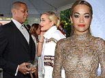 BEVERLY HILLS, CA - JANUARY 25:  (Exclusive Coverage) Jay-Z and Rita Ora attend the Roc Nation Pre-GRAMMY Brunch presented by MAC Viva Glam at Private Residence on January 25, 2014 in Beverly Hills, California.  (Photo by Kevin Mazur/Getty Images)
