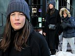 EXCLUSIVE: Pregnant actress Liv Tyler, wearing a navy overcoat and Valentino rockstud purse, walks with son Milo Langdon in New York City on January 29, 2016\n\nPictured: Liv Tyler,Milo Langdon\nRef: SPL1217270  290116   EXCLUSIVE\nPicture by: Christopher Peterson/Splash News\n\nSplash News and Pictures\nLos Angeles: 310-821-2666\nNew York: 212-619-2666\nLondon: 870-934-2666\nphotodesk@splashnews.com\n