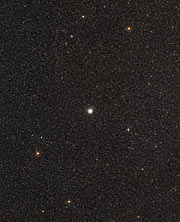 Wide-field view of the sky around the globular star cluster Messier 54
