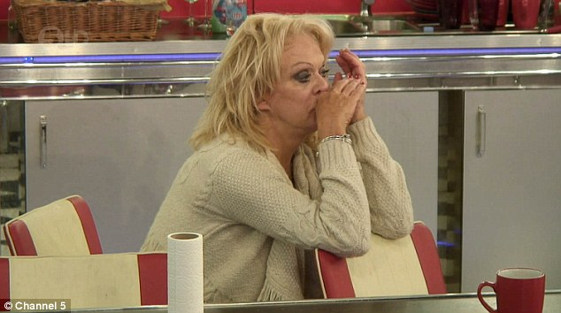 Upset: Sherrie Hewson felt the mounting pressure of Celebrity Big Brother during Saturday night's episode - which saw her burst into tears