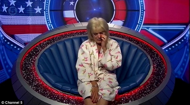 More tears: Loose Women co-host Sherrie Hewson continued her emotional turmoil on camera in Sunday's episode of Celebrity Big Brother