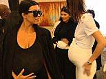 Preview: Everyone's pregnant! Kardashian Klan dons fake baby bumps in honour of Kim Kardashian's 35th birthday in new KUWTK clip